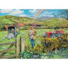 BITS AND PIECES PUZZLE LAMBS OUT TO PASTURE TREVOR MITCHELL 1500 PCS #40031