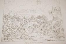 GRAVURE SUR CUIVRE NAPOLEON PASSAGE DU PONT DE LANDSHUT 1822 TARDIEU HERSEUT