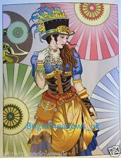 Steampunk Fashions Adult Colouring Book Art Therapy Creative Relaxing Goth punk