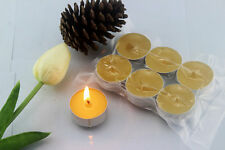12pcs Hand Poured Beeswax Candles ,Aluminum Cups,cup wax with Vacuum packing
