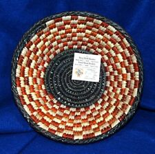 "Small Handwoven Basket Collectible Decorative New Pakistan 8x2"" S-11"