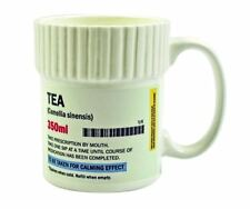 Pill Pot Shaped Tea Mug Ceramic Funny Prescription Pharmacy Stye Large Cup