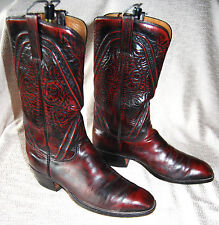 Vintage Lucchese black cherry boot/10.5D in excellent condition/original owner