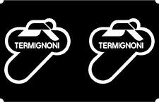 Termignoni Exhaust Sponsor Sticker Decals x2 for Ducati 1199 1098 999 996 749