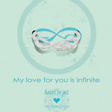 "Novità Heart to get-Argento Anello - ""My Love for you is infinite"" - Tg. 56"