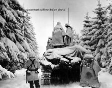 "Battle of the Bulge Belgium Tanks & Infantrymen 8""x 10"" World War II Photo  #152"