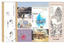 China Macau 2016 Paintings of Macao's Famous Artists stamp sheet Fish Boat
