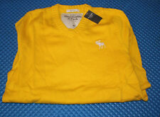 ABERCROMBIE & FITCH NORTH NOTCH SWEATER YELLOW  #M $88