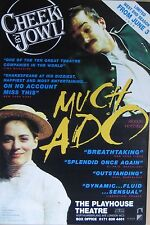 "40x60"" HUGE SUBWAY POSTER~Much Ado About Nothing 1998 Cheek by Jowl Shakespeare~"
