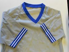 NOS Vintage '80's Winneshiek Baseball Jersey Size Large Grey Blue White USA!