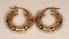 Boucles d'oreilles Créoles en Or jaune 14 Carats ou 585/1000ème