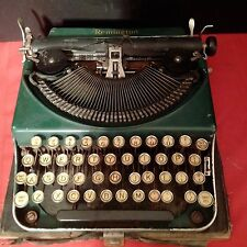 RARE VINTAGE GREEN REMINGTON TYPEWRITER WITH YELLOW KEYS Circa 1920's to 1930's