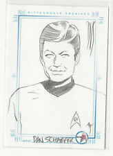 McCoy / DeForest Kelley Star Trek 35th Anniversary Sketch Card by Dan Schaefer