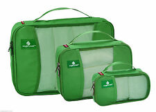 EAGLE CREEK 3 Piece GREEN Pack It Cube Half Quarter Set NWT NEW FREE SHIP