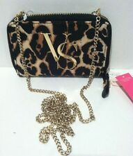 Victoria's Secret Leopard Crossbody Wallet Purse iPhone Case With Chain 5/5s/5c