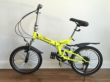 """20"""" Folding Bike With 6 Speed YELLOW - come with a carrier bag"""