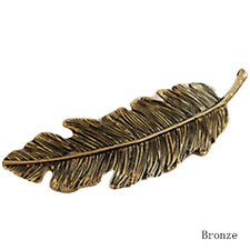 Women Gold/Silver Leaf Feather Hair Clip Barrette Bobby Pins Hair Accs New Hot