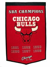 "Chicago Bulls Embroidered Wool Dynasty 24"" x 36"" Banner Pennant"