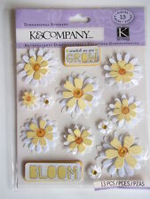 K&CO DIMENSIONAL STICKERS - DAISY daisies