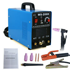 New 200 AMP DC Inverter TIG/ARC/MMA Welder Welding Machine WS-200D 110V & 220V
