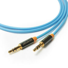 High End 3.5mm Aux Audio Cable M/M GOLD for MP3 Apple iPhone iPod 1M