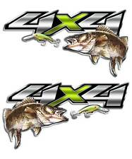 Walleye Fishing Sticker - 4x4 Truck Decal for Chevy fisherman boat graphic