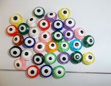 50pcs beautiful mix color eye Spacer bead  Before and after the same