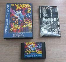 SEGA Mega Drive // X-Men 2 - Clone Wars +OVP +Anleitung // PAL CIB 100% Original