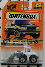 SHOVEL NOSE TRACTOR LOADER WHITE BIG MOVERS 13 1998 MB MBX MATCHBOX