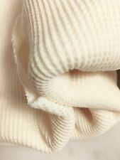 Poly Cotton Spandex Thermal Knit Fabric - Sold by the Yard - Natural Color (112)