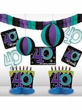 The Party Continues 40th Birthday Decorating Kit - Party Supplies