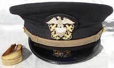 WWII US Navy Naval Bancroft Hat Cap - GEMCO Insignia Badge
