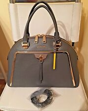 Cromia Made In Italy Stone Leather Satchel Shoulder  X-body NWT