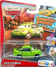 DISNEY CARS NICK STICKERS RADIATOR SPRINGS CLASSIC RARE MATTEL PIXAR