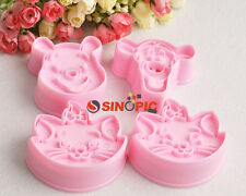 NEW 1 set Pooh,Tiger & Marie Cat cookie cutter Fondant Cake sugar crafts mold