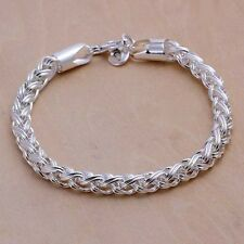 Unisex Men's Women's 925 Sterling silver unique multi link chain bracelet BR9