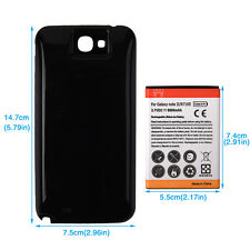 6500mAh Replacement Battery With Back Case for Samsung Galaxy note 2 II / N7100