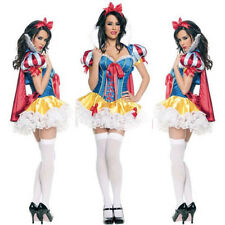 Halloween Cosplay Ladies Lingerie Snow White Princess Party Costume Fancy Dress