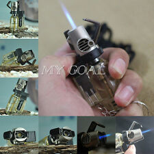 Windproof Torch Flame Refillable Butane Gas Welding Gun Cigar Lighter Keychain