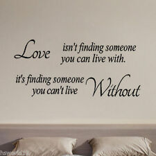 Love Isnt Accessori Carta Da Parati Adesivo Murale FAI-DA-TE Rimovibile