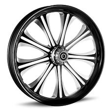 "DNA ""ENVY"" CONTRAST CUT FORGED BILLET 30""X 4"" FRONT WHEEL HARLEY CUSTOM"