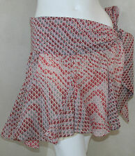 Just Cavalli Roberto Cavalli pretty pink red fleur de lis skirt sz 44 or 10 new