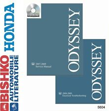2007 2008 2009 Honda Odyssey Shop Service Repair Manual DVD Engine Drivetrain OE