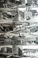 Missouri Industry 1891 Huttig Barry Muscatine Sash Dillaway Ament Matted Print