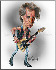 Keith Richards 8x10 Limited  Edition Caricature Art print from Don Howard