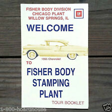 10 Original 1970s FISHER BODY AUTOMOBILE Touring Booklet STAMPING PLANT Unused