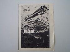 advertising Pubblicità 1964 NAVE SPAZIALE FIREBALL QUERCETTI