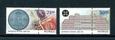 Norway 2016 MNH Norwegian Central Bank Bicent 2v Set Bank Notes Coins on Stamps