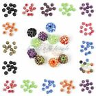 10pcs Full of Rhinestones Crystal Ball Acrylic Resin Round Spacer Charm Beads