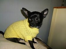 Hand knitted jumper / coat for Chihuahuas & small dogs 12.5'' body length